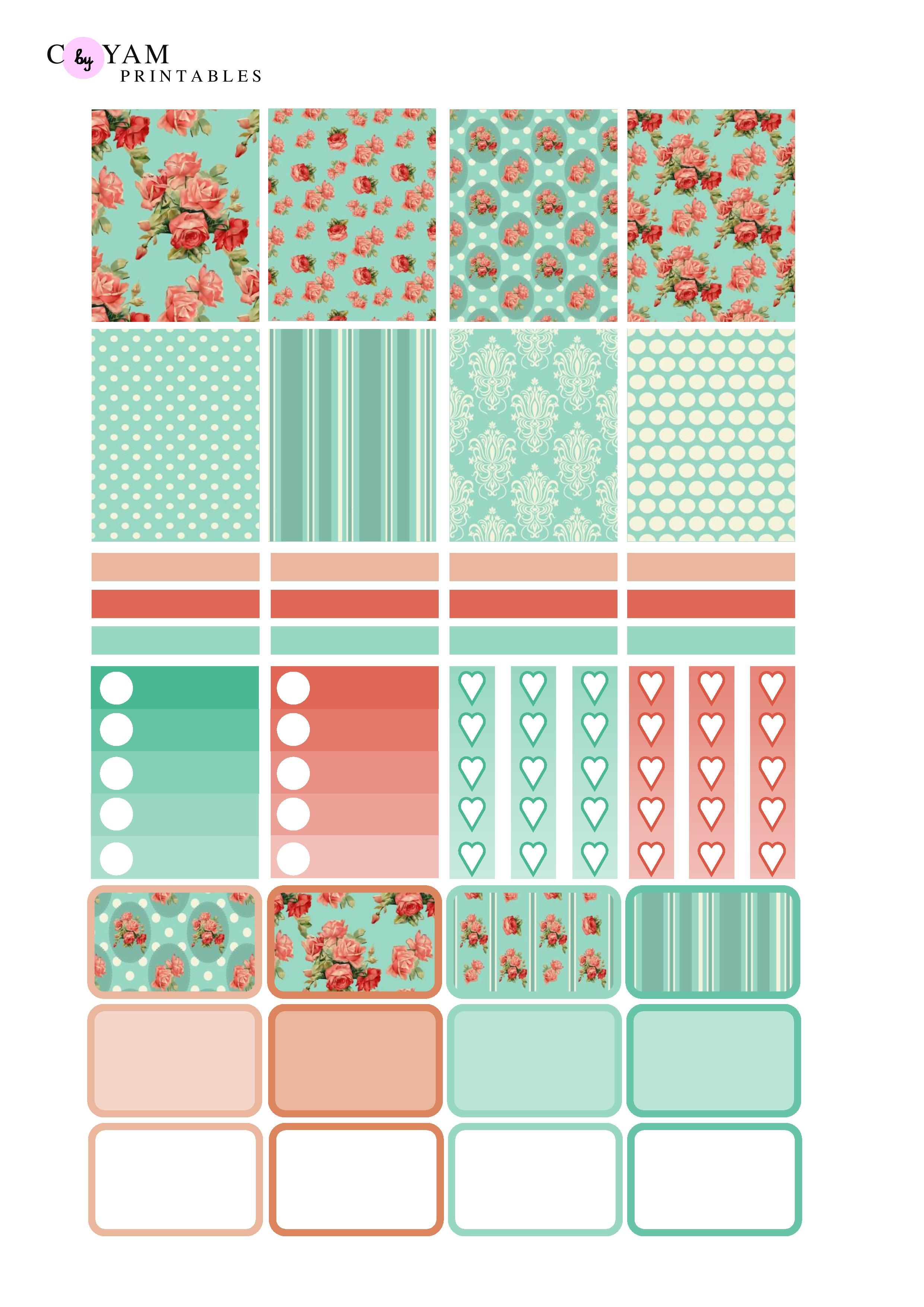 It is a graphic of Striking Erin Condren Printable Stickers
