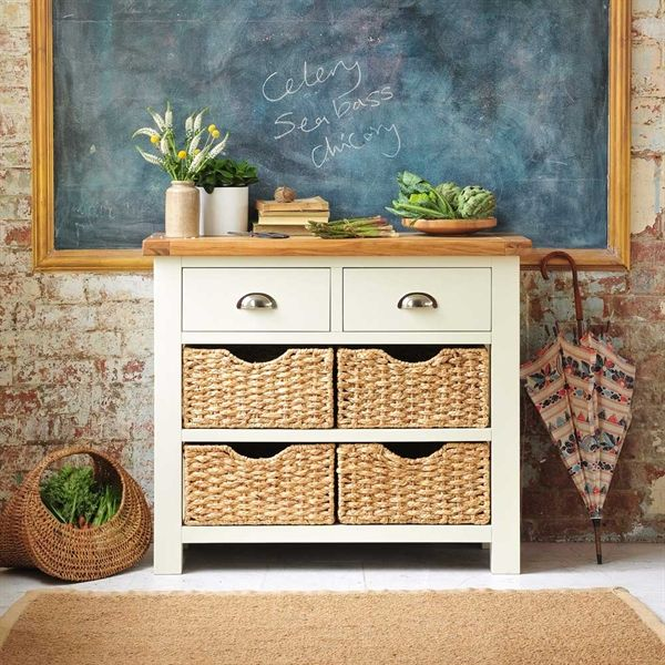Exceptionnel Oxford Painted Console Table With Baskets