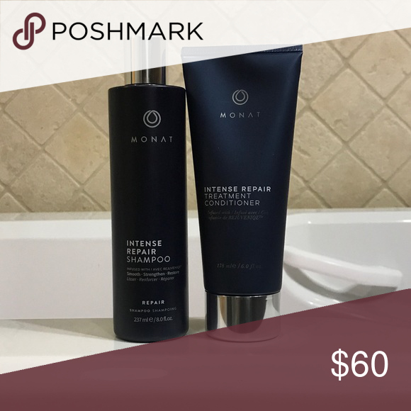 NEW Monat IRT Shampoo & Conditioner NEW Monat Intense Repair Therapy Shampoo & Conditioner. Listing is for both Shampoo and conditioner. Brand new. Conditioner is sealed. Shampoo is Full. Guaranteed Authentic. Reasonable offers Accepted. Monat Other