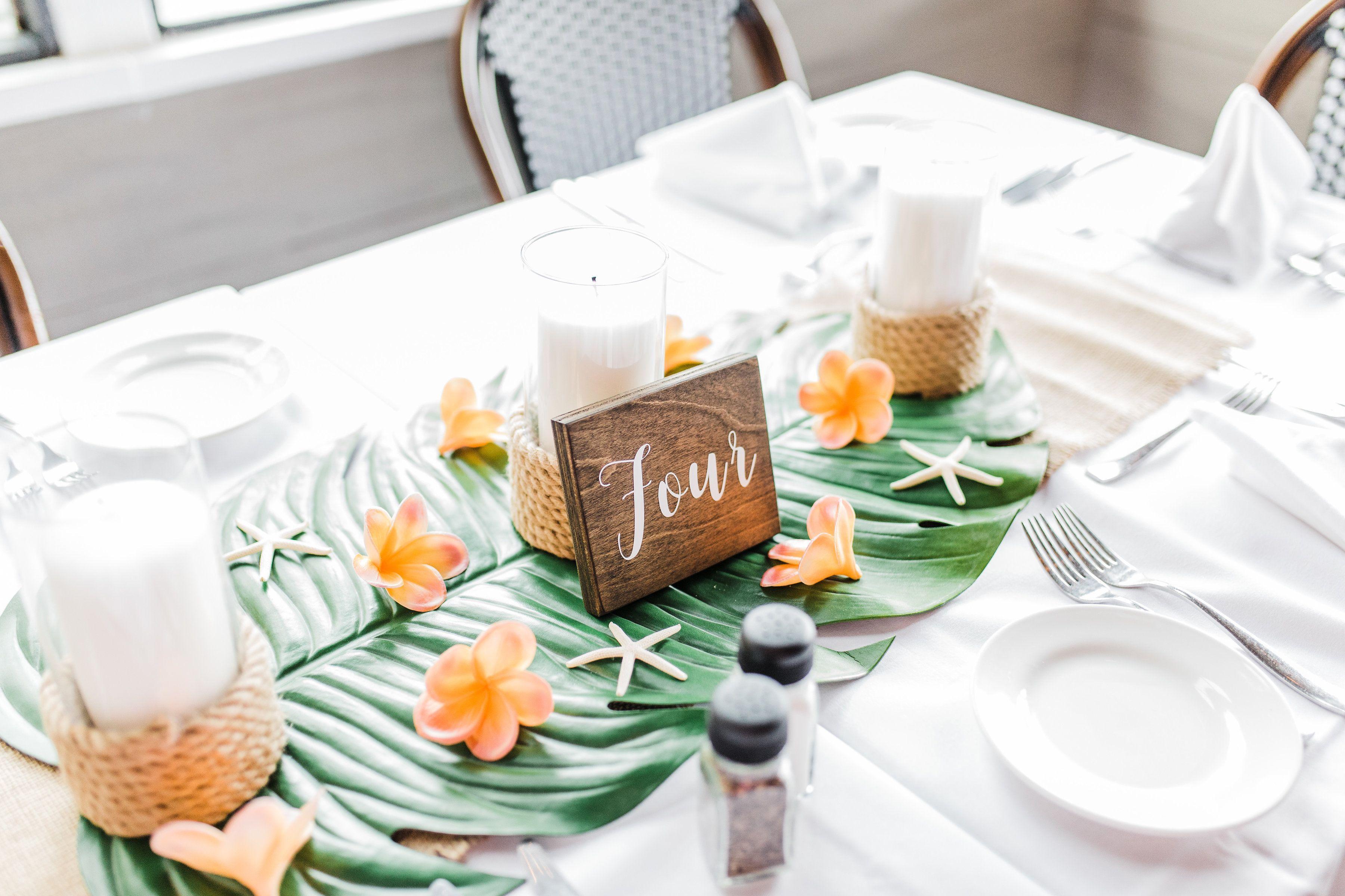 Tropical beach wedding centerpieces, silk flower centerpieces ...