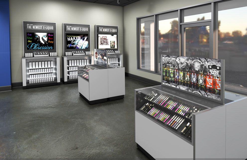 Vape store fixtures vapor store displays