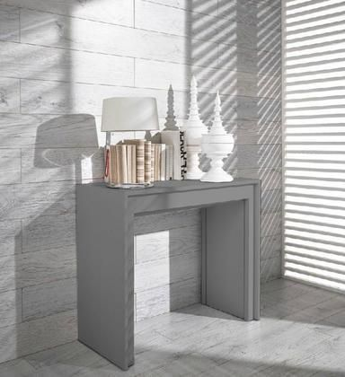 VGGU837XT Modrest Morph – Modern Ultra-Compact Extendable Grey Dining - bingefashion.com/interior #compactliving