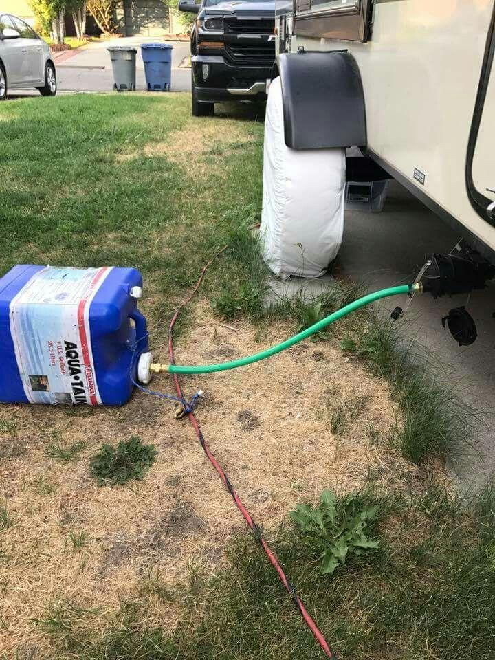 Cool idea for gray water dump camper repair cargo