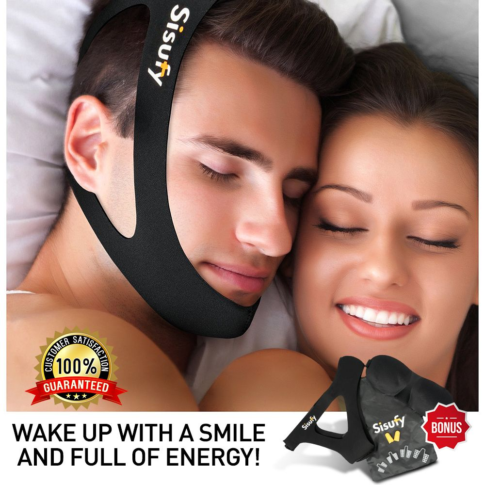 """""""I like using this chin strap. Helps minimize mouth"""