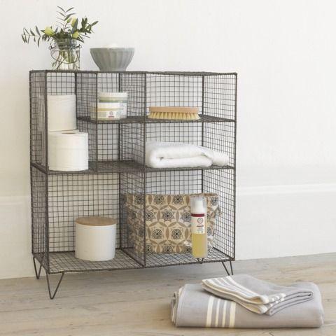 Bathroom Storage Unit Low Wire Loaf