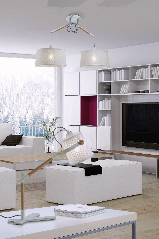 Colgante articulado 2 luces Nórdica pantalla blanca 4930 de Mantra [4930] - 194,21€ :
