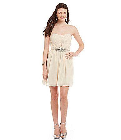 GB Strapless Rhinestone Dress #Dillards