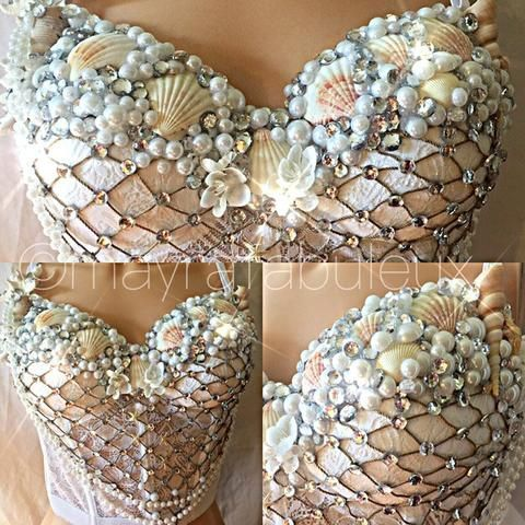 Photo of Crystal White und Silver Mermaid Rave Bustier, #Bustier #Crystal #diysilvernecklakeinspirati…