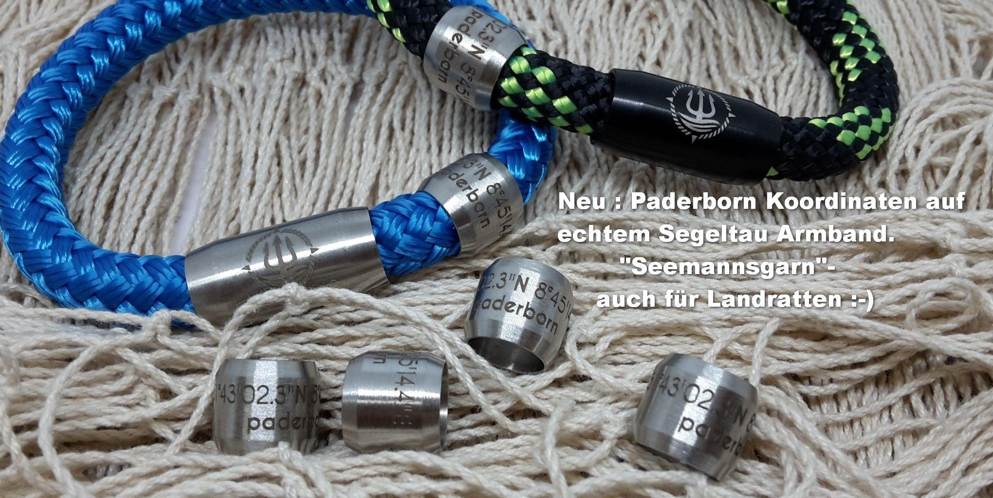 """Seemannsgarn /_ Maritimes Segeltau Armband /""""Rügen/"""" weiß-grau 4mm"""
