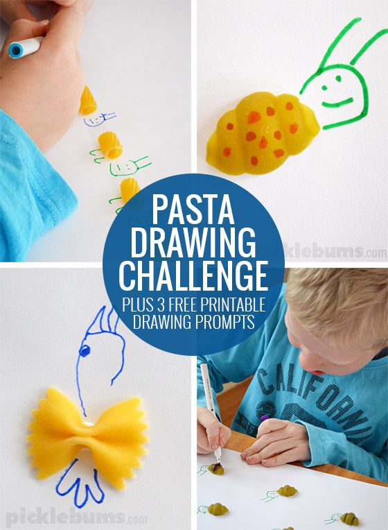 Pasta Drawing Prompts