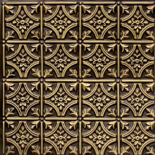 Cheap Decorative Ceiling Tiles Faux Ceiling Tiles 6X6 Pattern #150 Antique Brass Faux Plastic 2X2