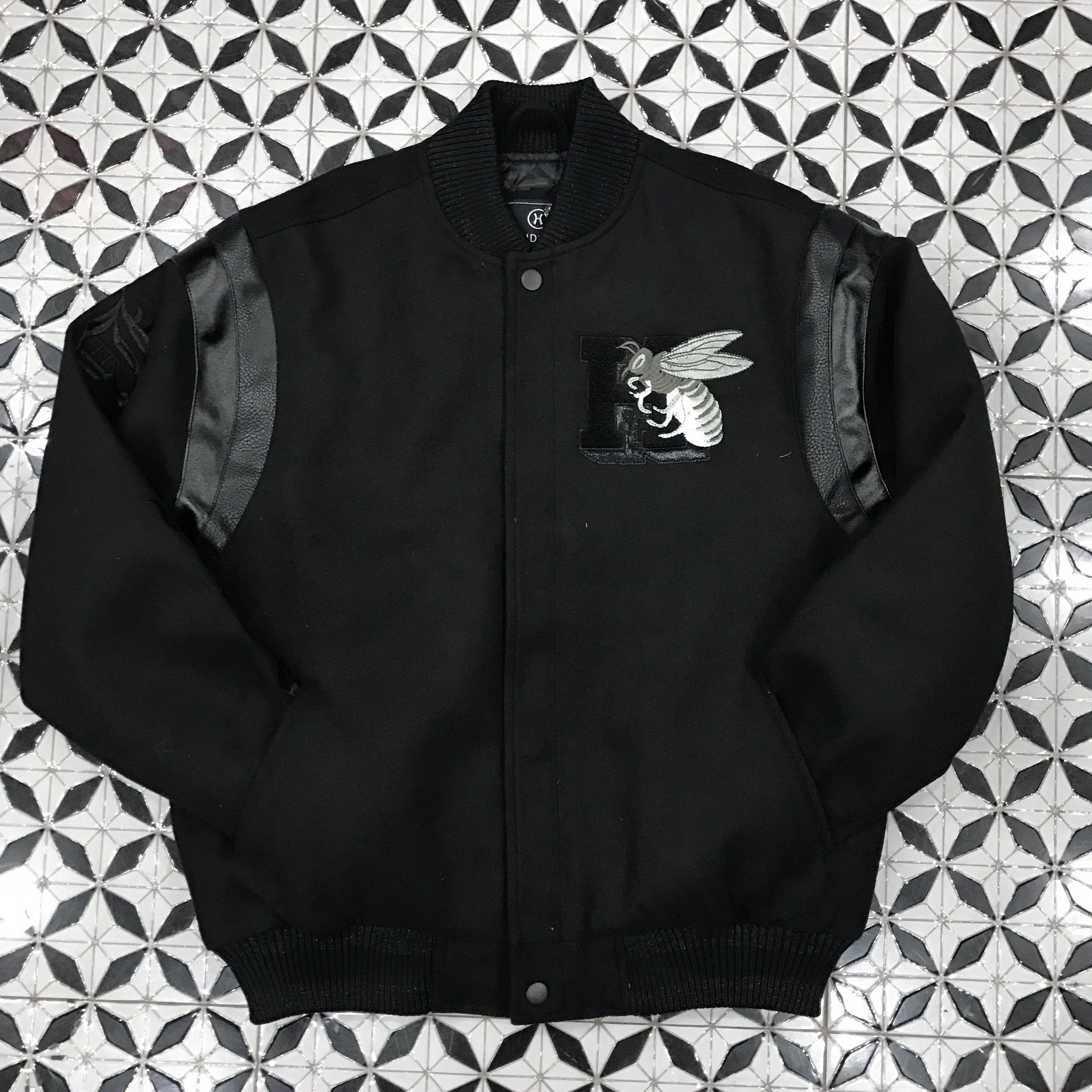 Hudson Black Hated Varsity Jacket Jackets Varsity Jacket Coats Jackets [ 3024 x 3024 Pixel ]