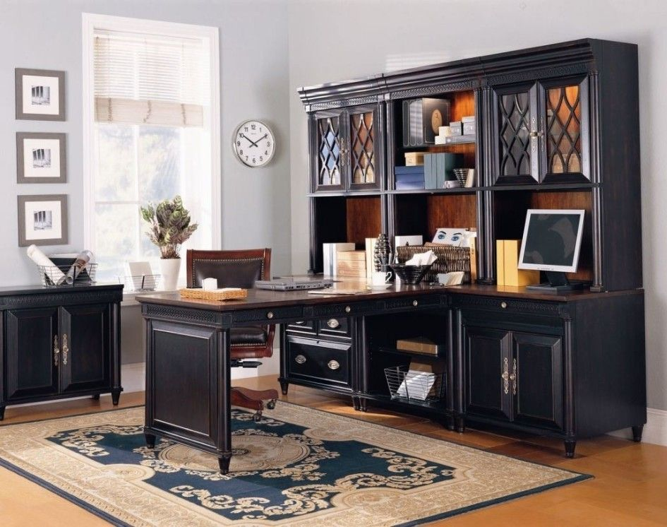 compact home office furniture black grey furniture small home office design ideas with classic wooden custom modular furniture laminate flooring and pattern carpet floor work