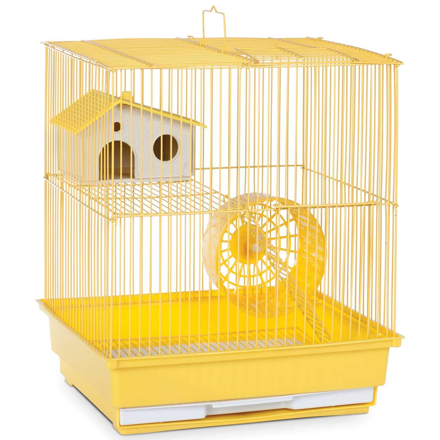Prevue Pet Products Two Story Yellow Small Animal Cage 14 L X 11 W X 15 25 H Small Animal Cage Pet Cage Small Pets