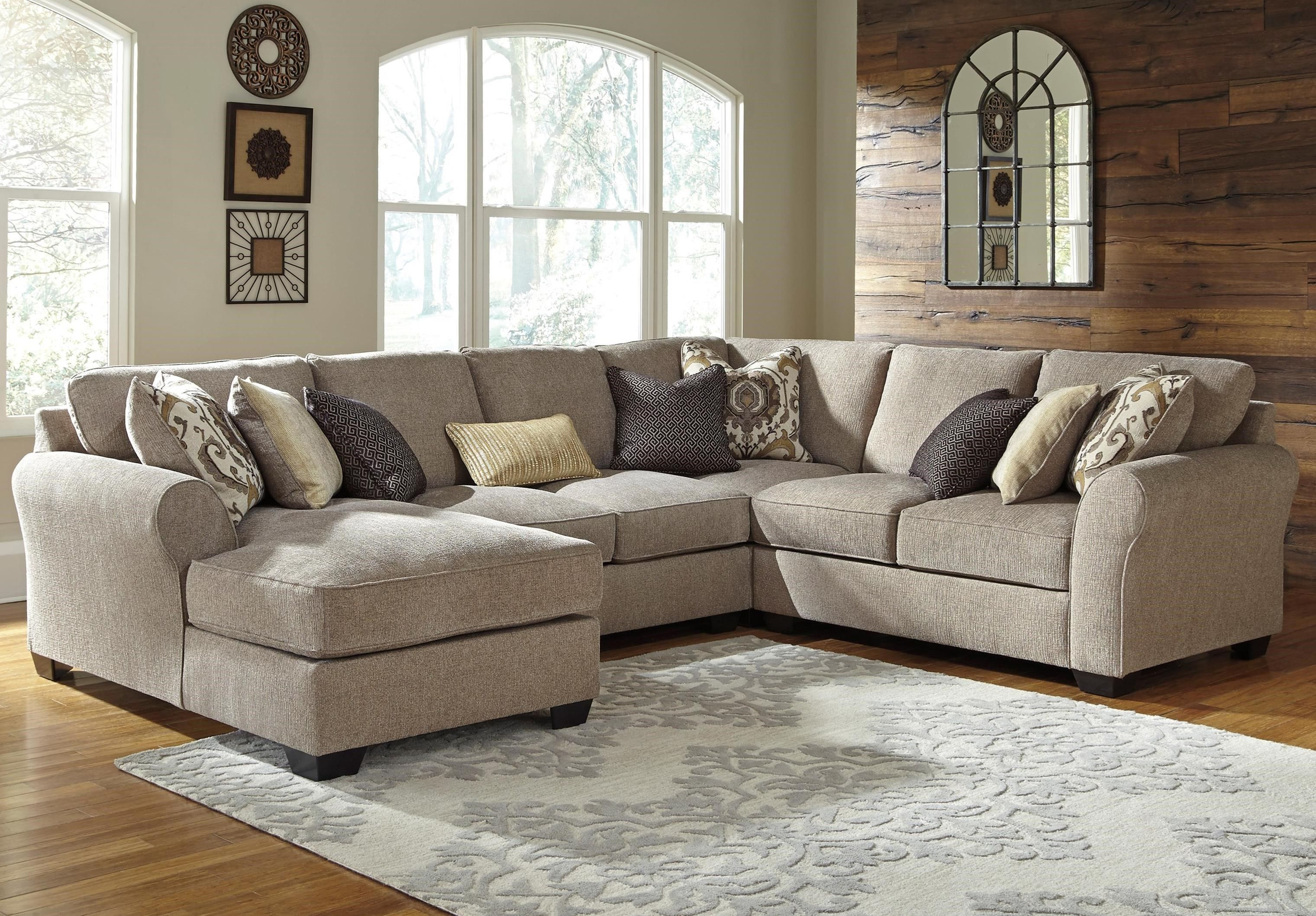 Best Benchcraft Pantomine 4 Piece Sectional With Left Chaise 400 x 300