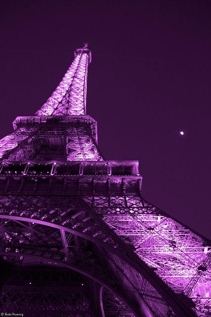 Pink Eiffel Tower |  Aesthetic wallpaper, Purple a
