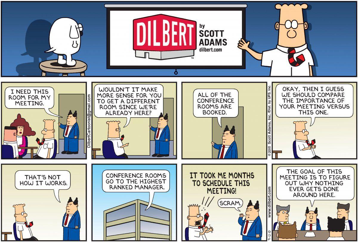Comic strip co-worker od dilbert