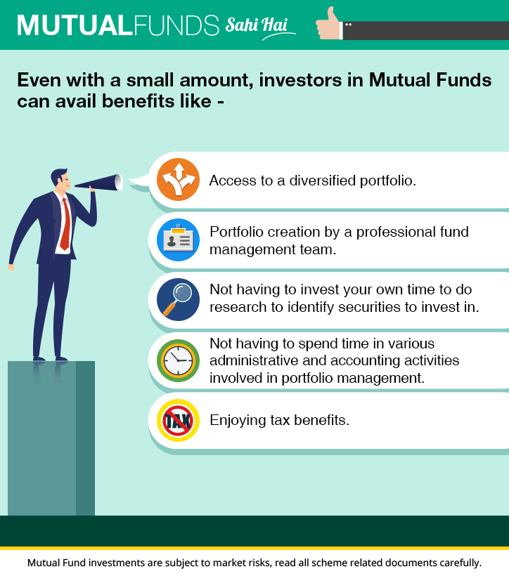 Wont I need a large amount to invest in Mutual Funds