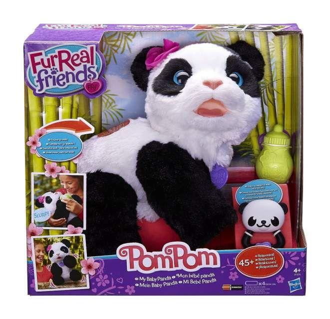 Pom Real HasbroMondo Friends Panda Bebe Fur Bimbi wPnZ80kNOX