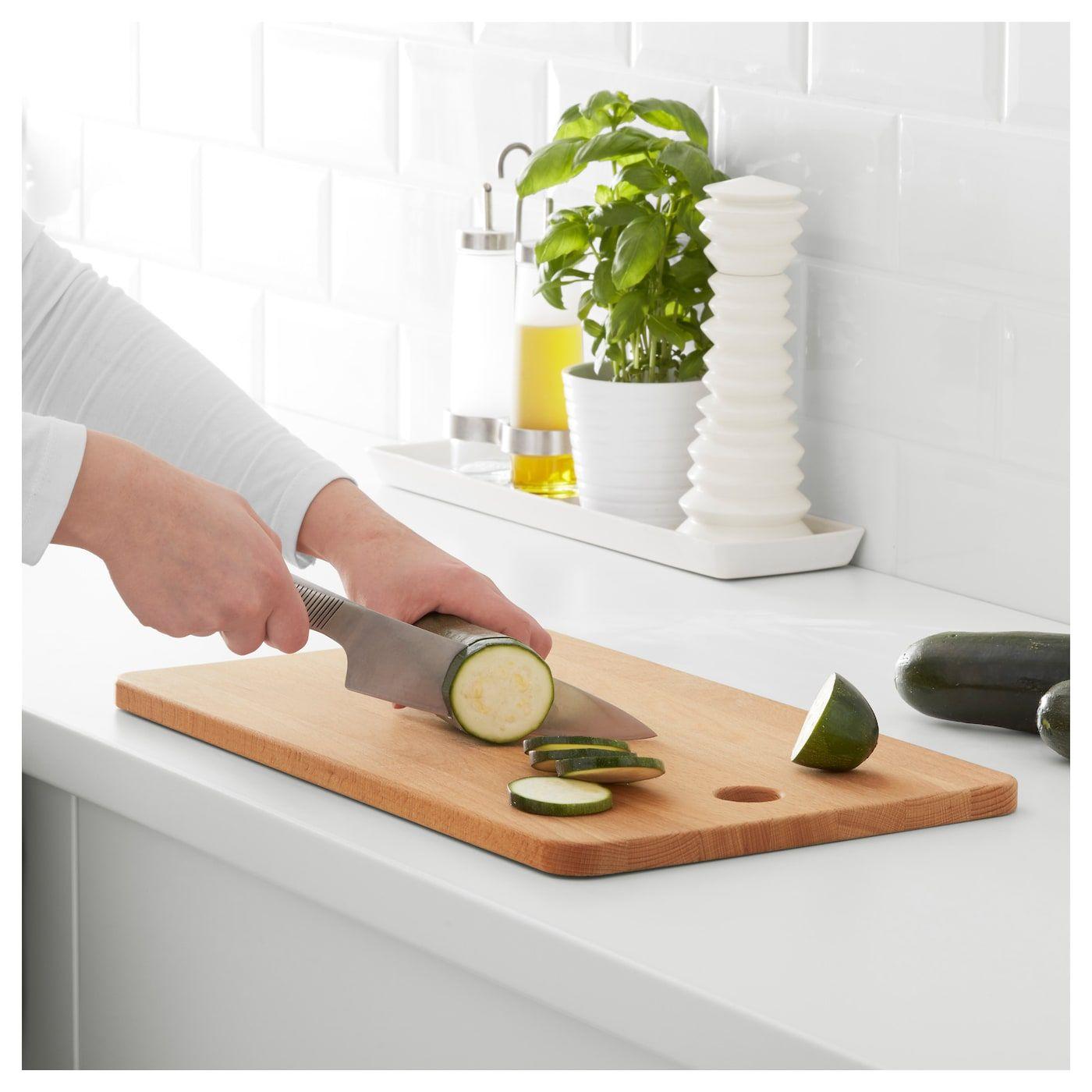 """PROPPMÄTT Chopping board, beech, Length 17 ¾"""" IKEA"""
