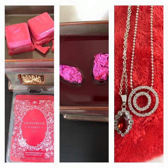 A #beautiful double #necklace reveal from one of our #valentinesday prize tarts!   #jewelryincandles