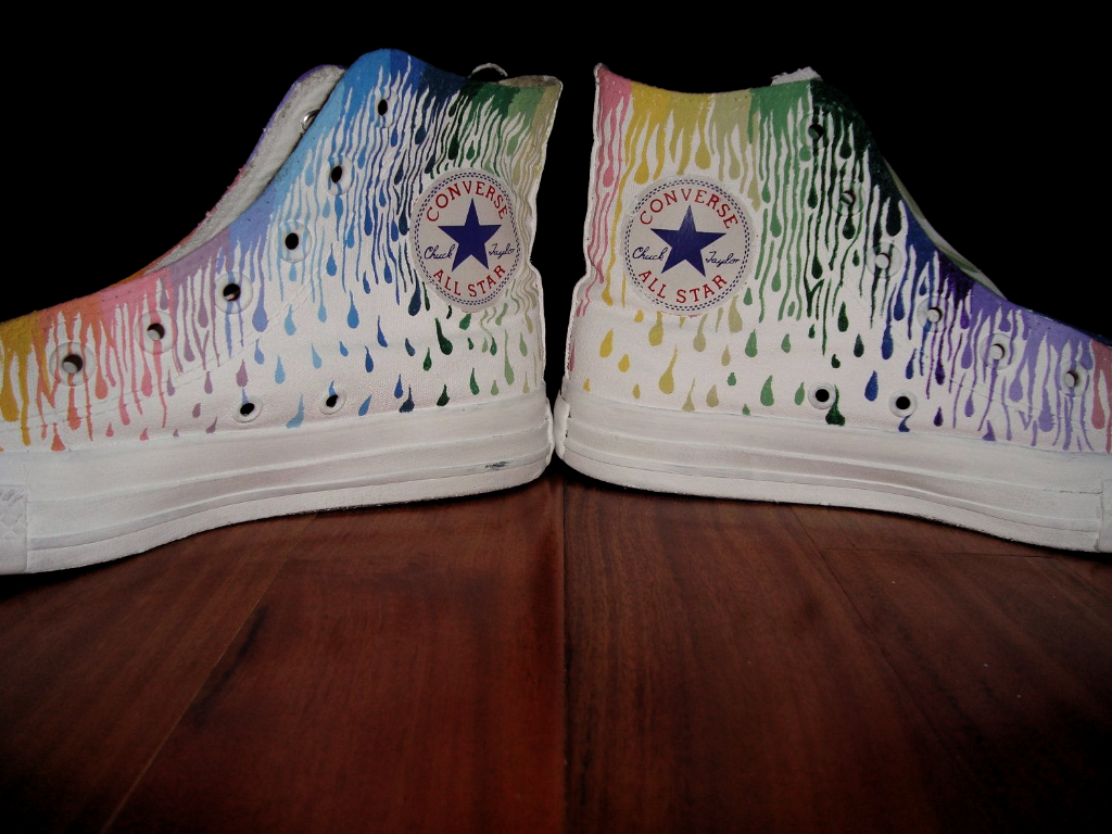 converse with designs on them