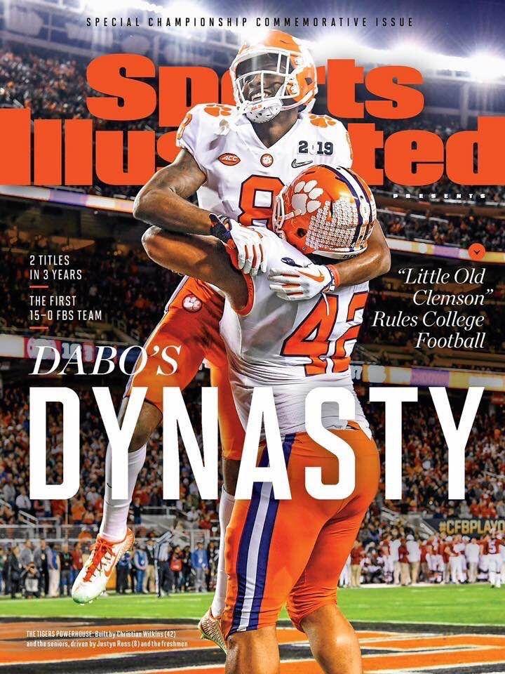 2018 National Champions Clemson, Sports magazine
