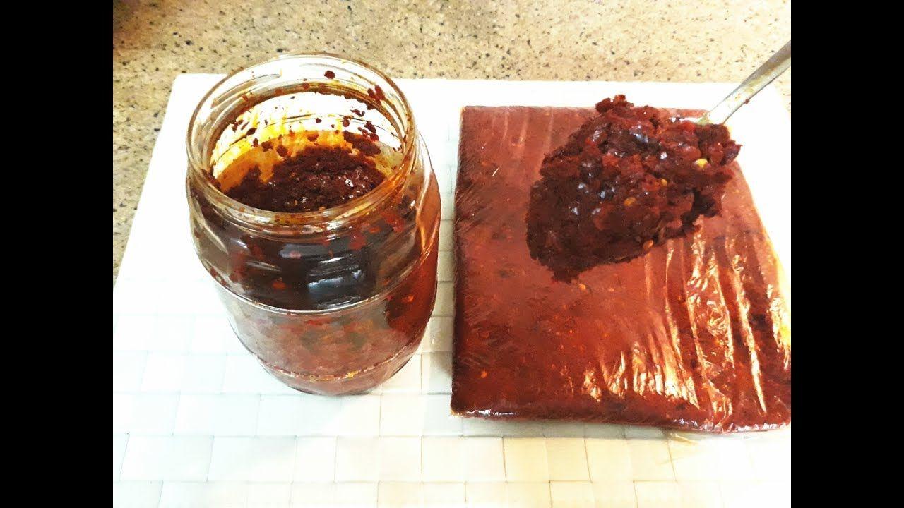 طريقة عمل دبس فليفلة مع طريقة حفظه مدة اطول لجميع اكلات الدجاج واللحوم من مطبخ زهور السخني Youtube Food Meat Jerky Jerky