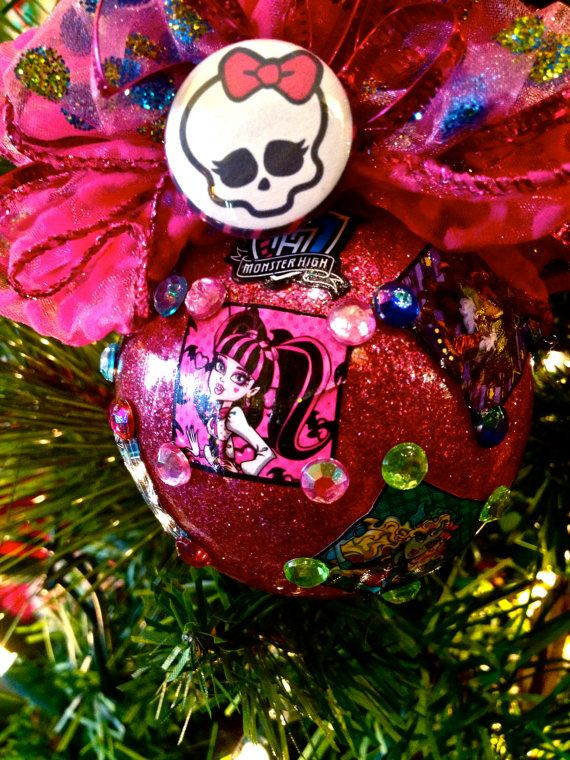 MONSTER HIGH Christmas Ornament Draculaura, Lagoona Blue, Frankie Stein,  Clawdeen Wolf, Cleo - MONSTER HIGH Christmas Ornament Draculaura, Lagoona Blue, Frankie