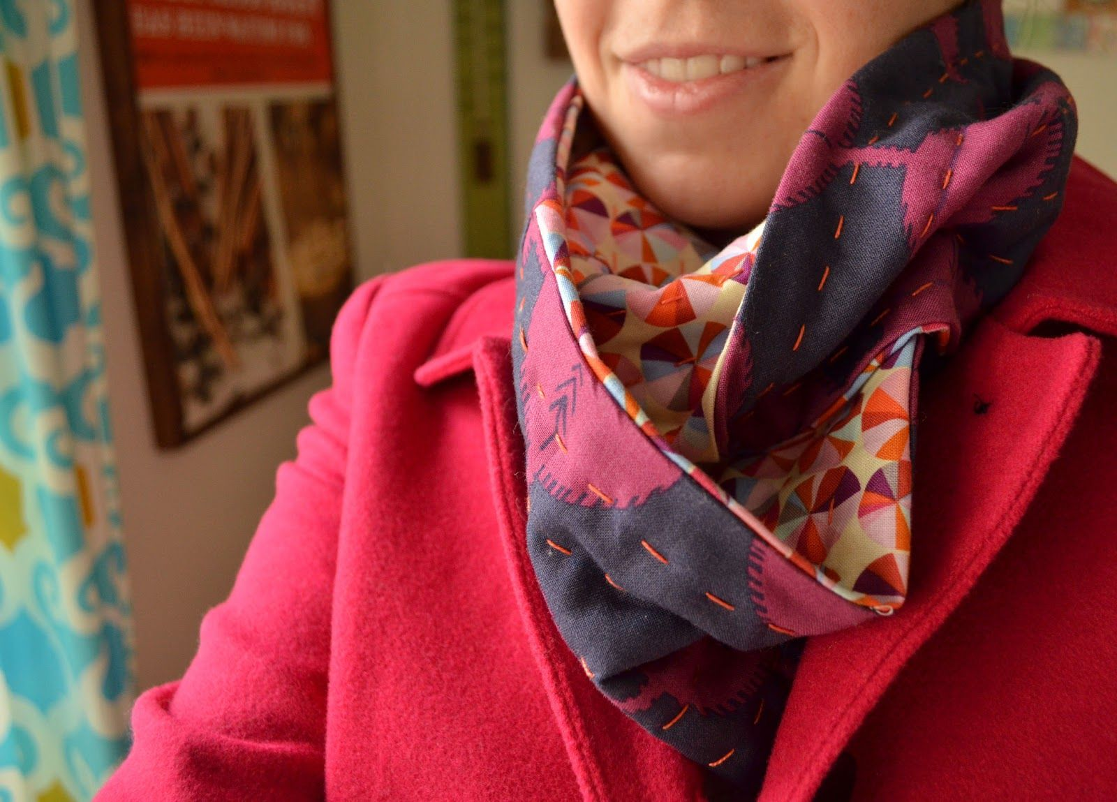 Diy Fat Quarter Projects Sew Homegrown Diy The Fat Quarter Infinity Scarf