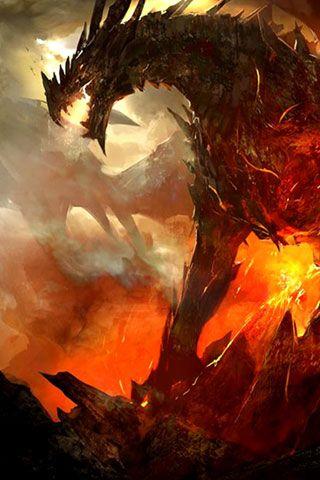 Fire Dragon Iphone Wallpaper Id 42932 Fondos De Pantalla Dinosaurios Dragones Fondos De Pantalla De Juegos