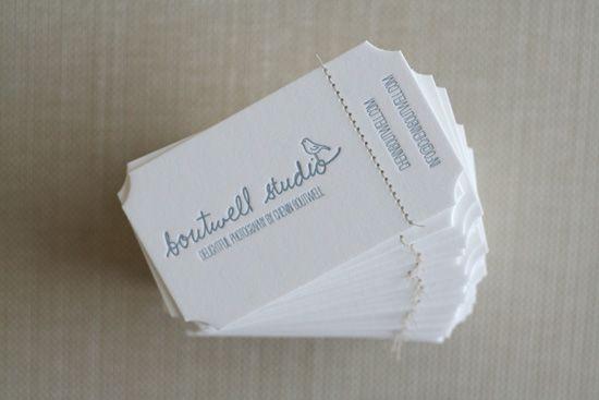 business card corners.