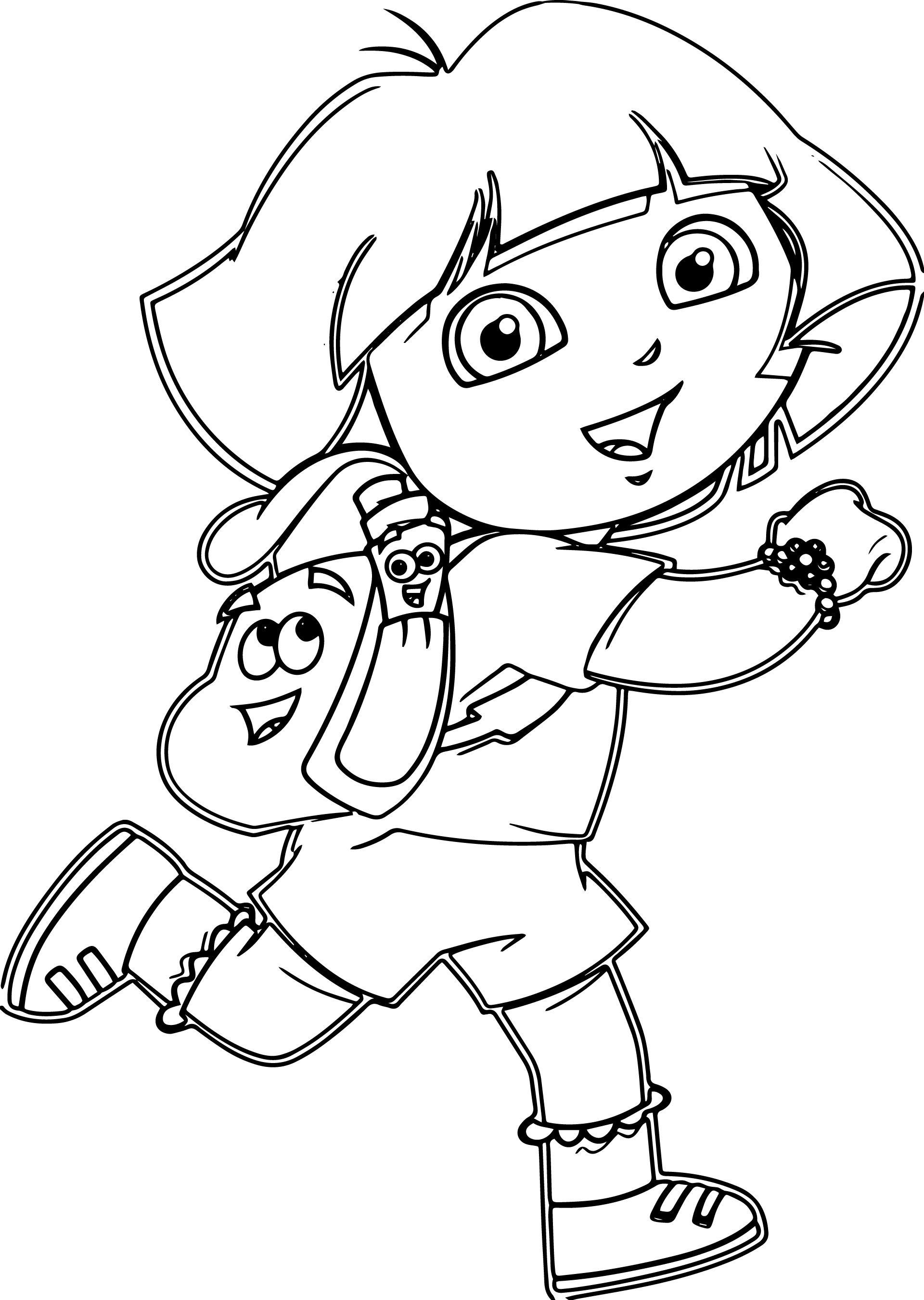 Nice Dora Cartoon Coloring Pages Cartoon Coloring Pages Dora