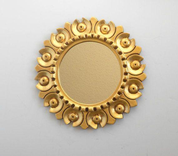 Rare Sunburst Mirrormodern Round Mirror For Wall Decorwall Etsy