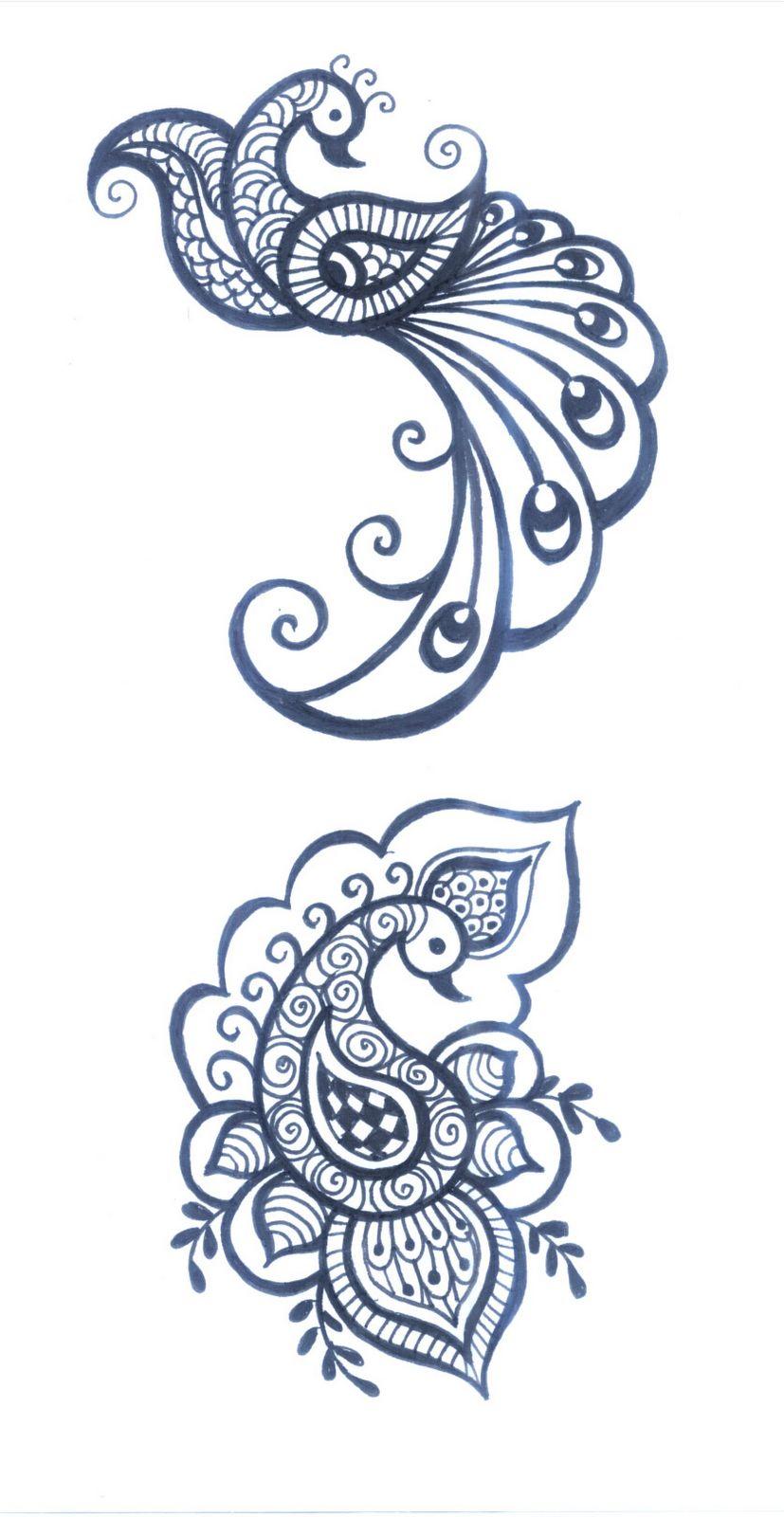 Peacock Design Henna Tattoo: Henna Tattoo Designs, Henna Designs, Henna