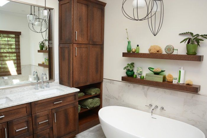 Best Modern Master Bath With Unique Cabinets With Images 640 x 480