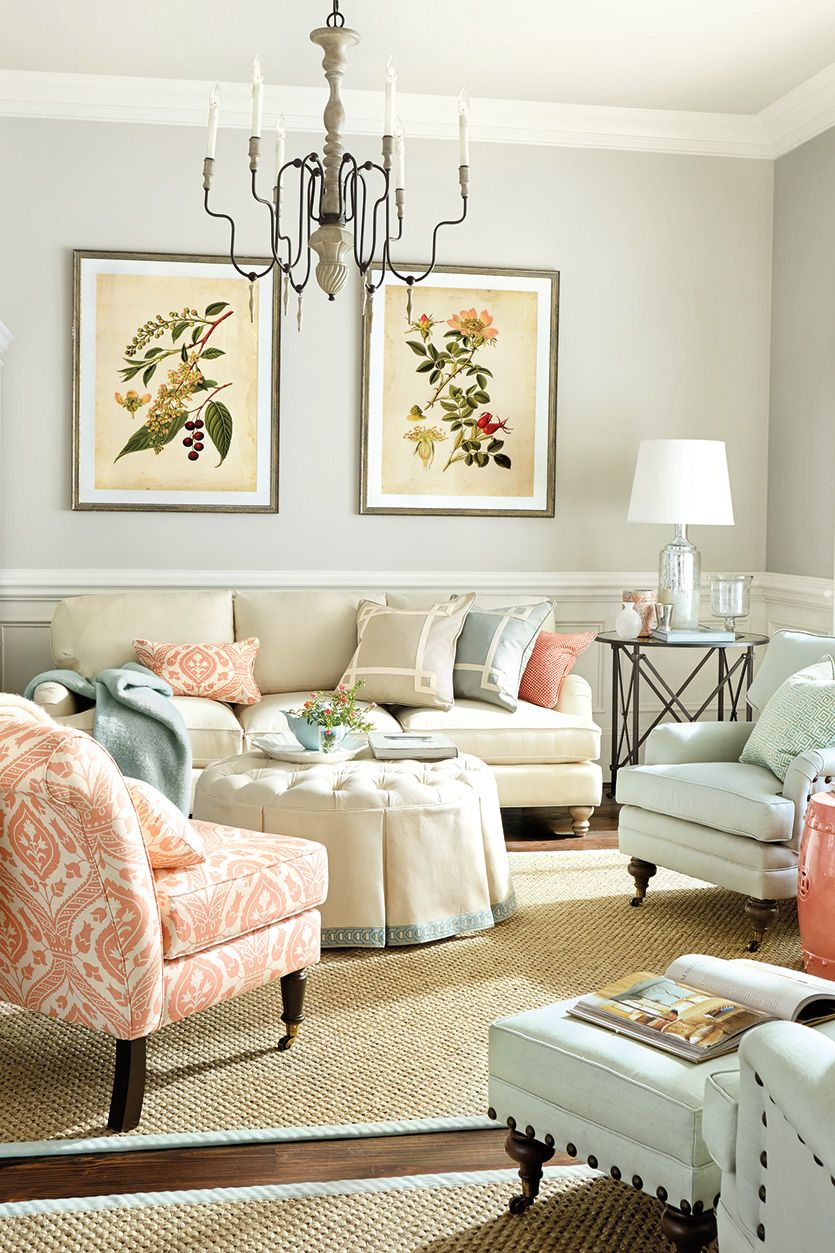 10 Living Rooms Without Coffee Tables | Tufted ottoman, Floor space ...