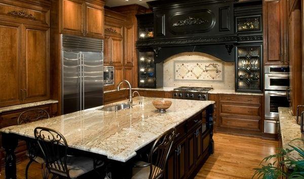 typhoon bordeaux granite countertops wood cabinets design ... on Typhoon Bordeaux Granite Backsplash Ideas  id=28105