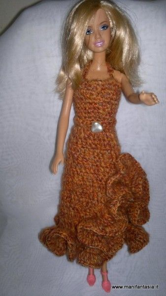 Vestito Uncinetto Barbie Schema E Tutorial Barbie Vestiti Barbie