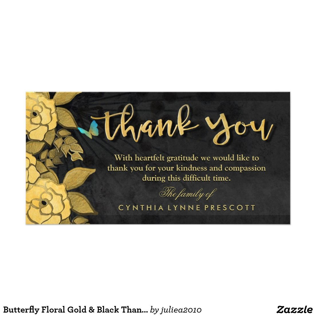 create your own photo card  zazzle  sympathy thank