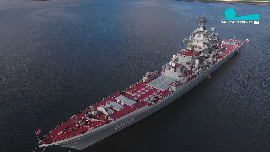 Kirov Class Battle Cruiser of Russian navy