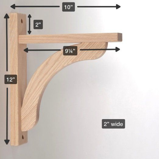 Amazon.com - Wood Shelf Bracket - Oak Concave 10 ...