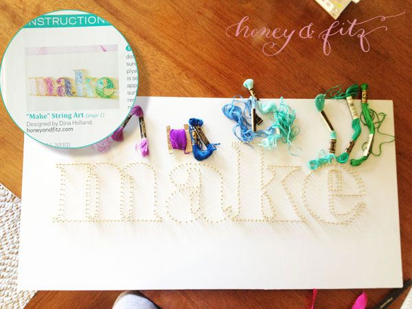 My String Art in BHG's Make it Yourself Magazine (and the original piece has found a home too!)