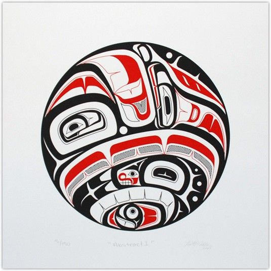 by Nathaniel_Wilkerson | Haida | Pinterest | Circles, Animals and Art