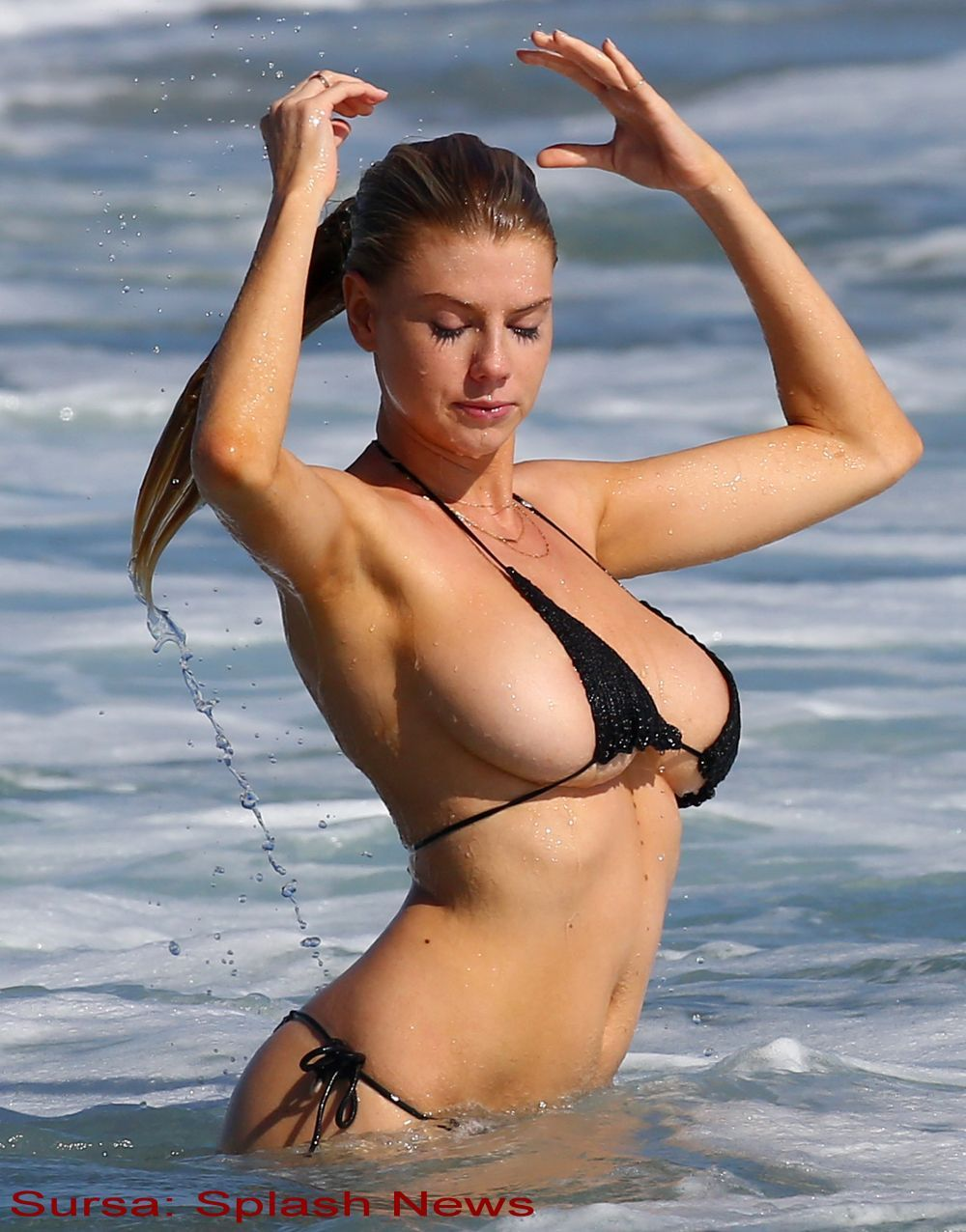 Charlotte McKinney's Tit Pops Out During Bikini Dance new pictures
