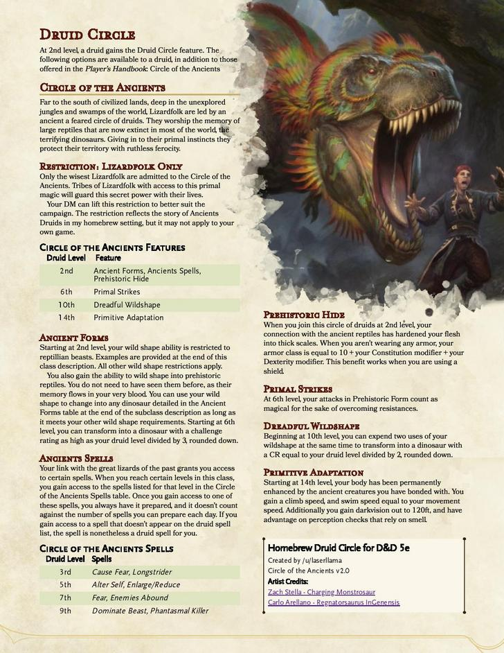 D D 5e Circle Of The Ancients Druid Dnd Druid D D Dungeons And Dragons Dungeons And Dragons Homebrew Cause fear (5e spell) from d&d wiki. d d 5e circle of the ancients druid