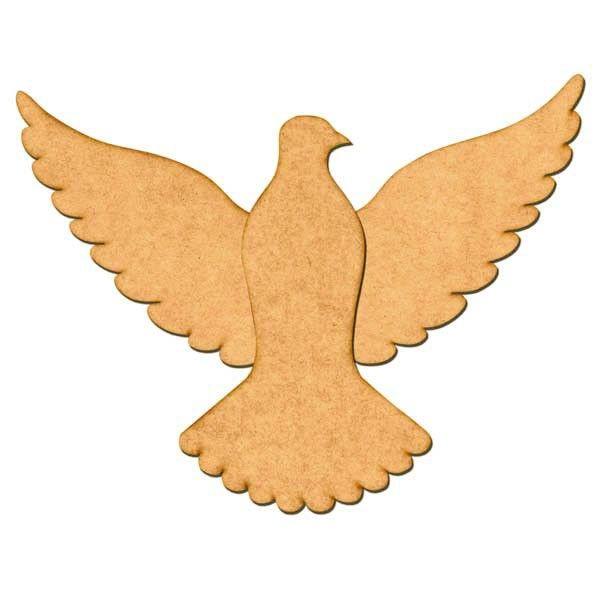 Aplique Pomba Da Paz Espirito Santo Em 2 Partes 30x23