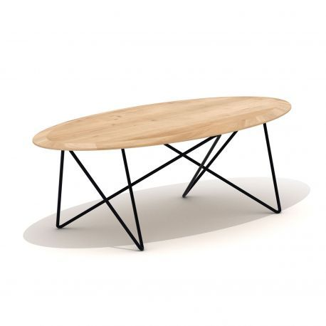 Table basse ovale Orb Grandes tables basses, Table basse chene