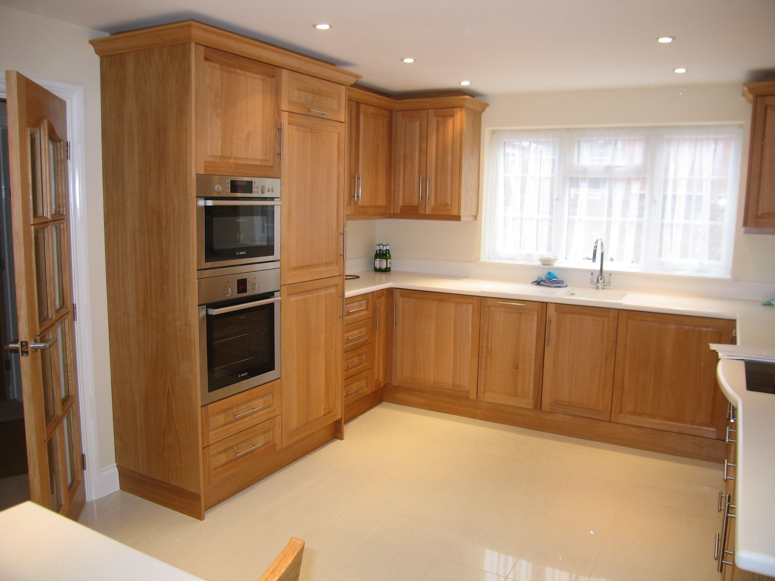 Another Classic Oak Kitchen Brought Up To Date With The Clean Lines Of A  Corian Worktop, Complete With Fabricated Sink. Take A Look At Our Website  For More ...