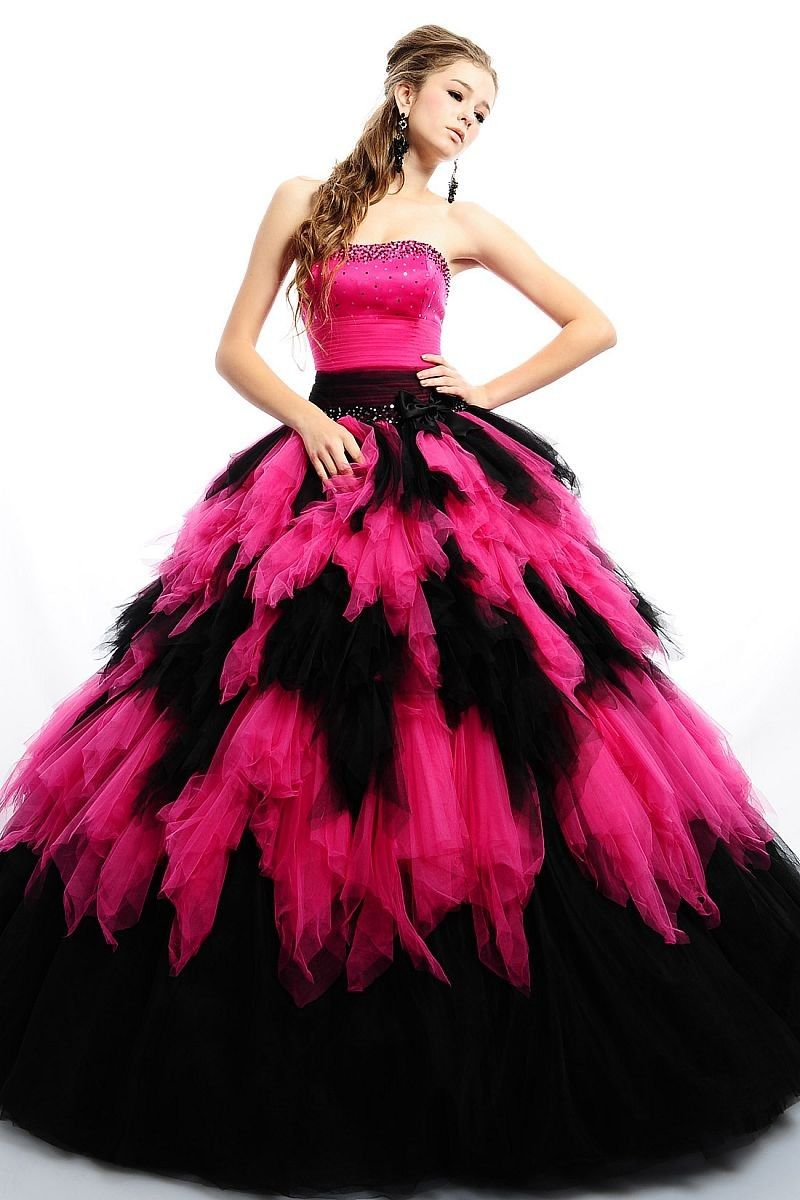 Adorable paillette strapless empire waist tiered ruched ball gown